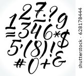 brush lettering vector numbers... | Shutterstock .eps vector #628178444