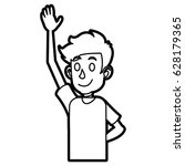 cartoon boy young character line | Shutterstock .eps vector #628179365