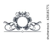 round decorative frame flourish ... | Shutterstock .eps vector #628181771