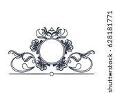 round decorative frame flourish ... | Shutterstock .eps vector #628181771