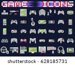 video game icons set. flat... | Shutterstock .eps vector #628185731