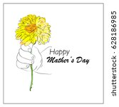 happy mother's day card | Shutterstock .eps vector #628186985