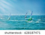 riva del garda  italy  lago... | Shutterstock . vector #628187471