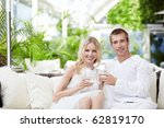 young attractive couple... | Shutterstock . vector #62819170