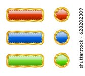 six openwork buttons   Shutterstock .eps vector #628202309