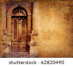 Vintage Door On Paper Background