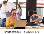 asian charming beautiful... | Shutterstock . vector #628206479