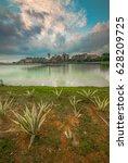 sunrise morning at putrajaya...   Shutterstock . vector #628209725