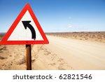 triangular road warning sign... | Shutterstock . vector #62821546