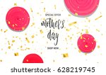 mother's day sale background... | Shutterstock . vector #628219745