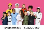 group of diverse kids wearing... | Shutterstock . vector #628220459
