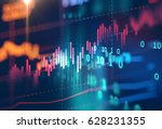 financial stock market graph on ... | Shutterstock . vector #628231355