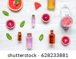 organic cosmetic with citrus on ...   Shutterstock . vector #628233881