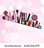 sets of cosmetics onsets of... | Shutterstock .eps vector #628236299