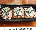 french toast ham cheese with... | Shutterstock . vector #628238351