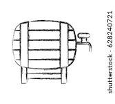 fresh beer in barrel isolated... | Shutterstock .eps vector #628240721