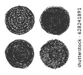 scribble grunge circles   a set ... | Shutterstock .eps vector #628241891