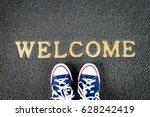 welcome mat | Shutterstock . vector #628242419