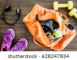 sports bag with sports equipment | Shutterstock . vector #628247834
