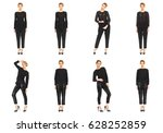 collection of full length... | Shutterstock . vector #628252859