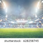 stadium in lights and flashes... | Shutterstock . vector #628258745