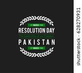 23 march. pakistan day.... | Shutterstock .eps vector #628270931