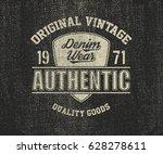 original vintage denim print... | Shutterstock .eps vector #628278611