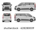 white passenger family car.... | Shutterstock .eps vector #628280039