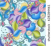 beautiful retro floral seamless ... | Shutterstock .eps vector #628284461