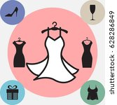 party fashion dress icon or... | Shutterstock .eps vector #628286849