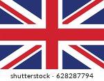 vector united kingdom flag ... | Shutterstock .eps vector #628287794