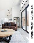 brown sofa in contemporary... | Shutterstock . vector #628288121