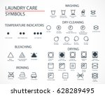 washing and laundry icons set.... | Shutterstock .eps vector #628289495