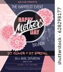 vector hand drawn mothers day... | Shutterstock .eps vector #628298177