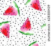 watercolor seamless pattern... | Shutterstock .eps vector #628300439