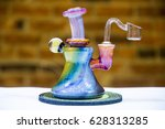 dab rig for marijuana...   Shutterstock . vector #628313285