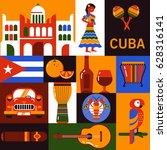 cuba illustration. collection... | Shutterstock .eps vector #628316141