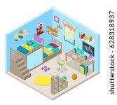 teenager room interior design... | Shutterstock .eps vector #628318937