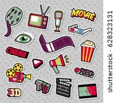 cinema film television patches  ... | Shutterstock .eps vector #628323131