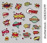 pop art comic speech bubbles... | Shutterstock .eps vector #628324199
