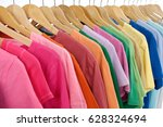 set of colorful shirt clothing... | Shutterstock . vector #628324694