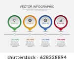 info graphic design with 4... | Shutterstock .eps vector #628328894
