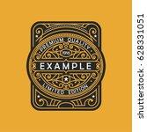 modern emblem  badge  monogram... | Shutterstock .eps vector #628331051