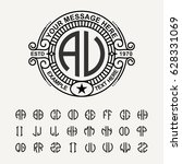 modern emblem  badge  template. ... | Shutterstock .eps vector #628331069