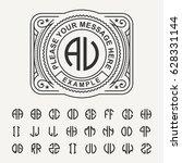 modern emblem  badge  template. ... | Shutterstock .eps vector #628331144