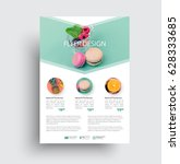 design flyer with a place for a ... | Shutterstock .eps vector #628333685