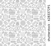 bakery seamless pattern  food... | Shutterstock .eps vector #628337291