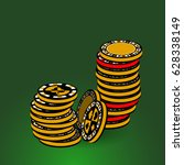 poker chips. icon for your...   Shutterstock .eps vector #628338149