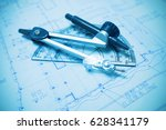 construction planning and... | Shutterstock . vector #628341179