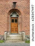 small church door in a danish...